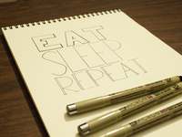 Eat Sleep Repeat Hand Lettering