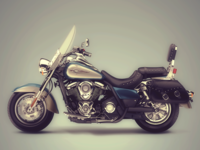 2D Illustration Kawasaki Vulcan + Full view - Adobe Fireworks
