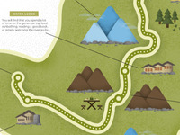 Trek to Machu Picchu map