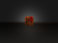Wooden Grunge Icon Improved