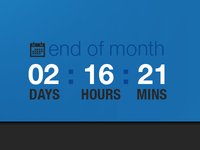 End of the month counter
