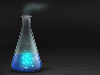 Conical flask with added magic!