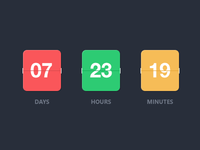 Flat Counter - PSD Template