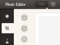 Photo Editor GUI - Psd