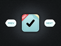 iPhone ToDo (Icon & Buttons)