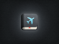 iPhone Travel App Icon (Book style)