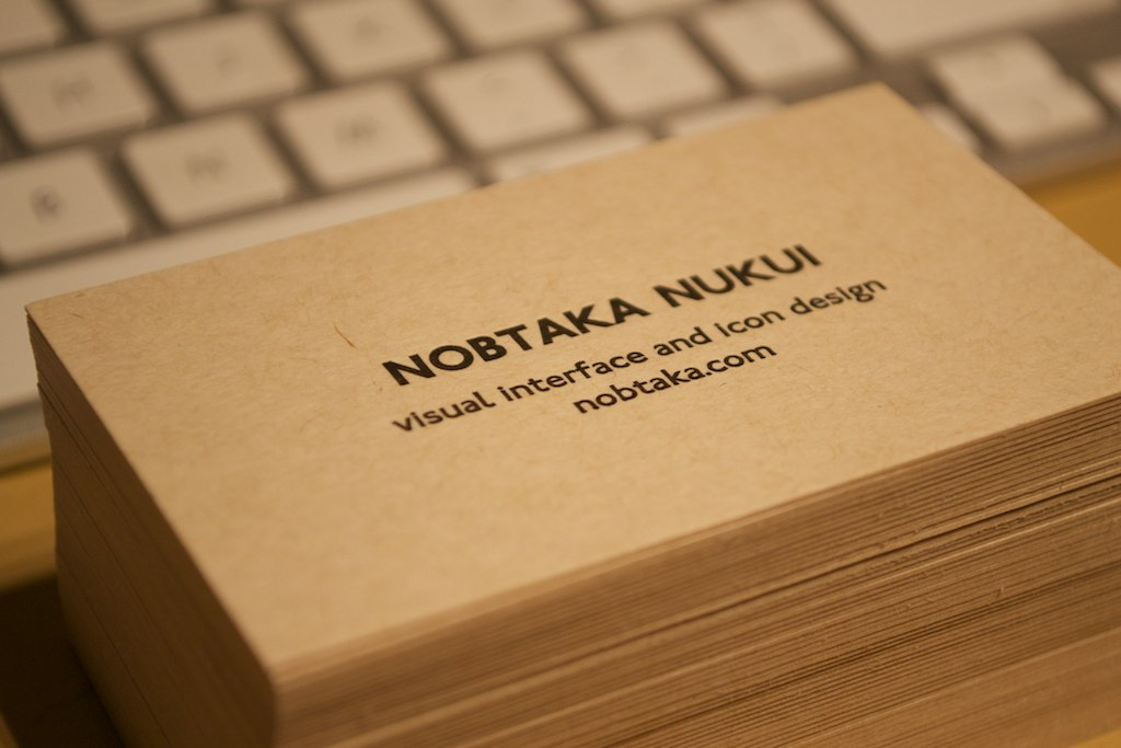 Dribbble New personal business card by Nob Nukui