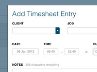 Timesheet Entry Modal