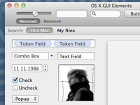Mac OS X GUI Elements. Made in Sketch.