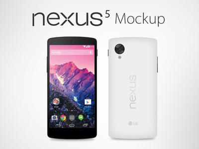 Download Vector Google Nexus 5 Mockup