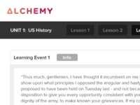 Alchemy Learning Project - Unit Level View w/ Brand