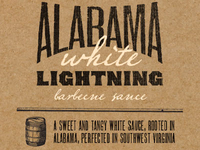 Bootleg BBQ Alabama White Lightning label