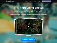 PhotoGroupr's new homepage Draft