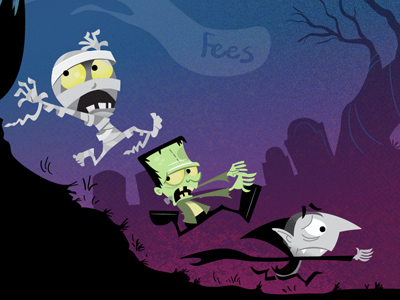 Scared-monsters-dribbble