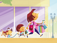 Shopping Spree Illustration
