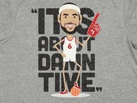 "LeBron James T-Shirt ""It's About Damn Time"""