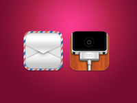 Mail & Phone iOS Icons