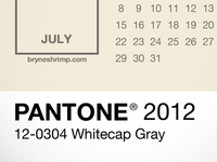 Pantone 2012 Lock Screen Calendar