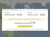 Flight price overlay