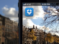 New Dropbox iOS Icon rebound 2