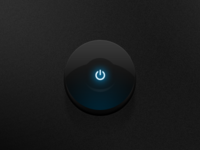 PSD | Dark Glossy Power Button