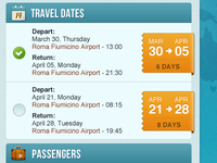 Booking interface