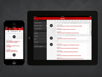 Conference app agenda - mobile & tablet versions
