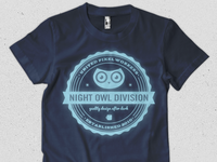 Glow in the dark owl shirt