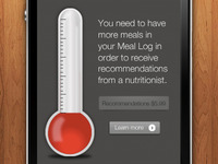Meals app - recommendations thermometer