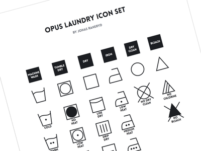 Download Opus Laundry Icon Set