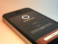 DigalPlate iPhone App GUI - Login