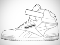 Reebok Ex-O-Fit Hi Clean Logo Line Art