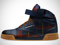 Reebok Ex-O-Fit Hi Clean Logo Plaid 1
