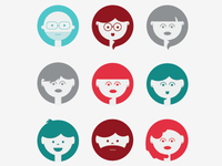 People Icons (one color)