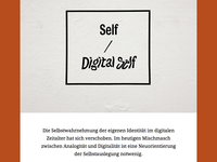 Self / Digital Self Website
