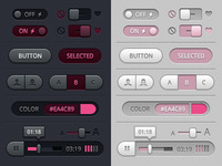 Toggles, Buttons and Sliders UI (Plush)