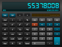 Calculator UI (Dark & Deep Style)