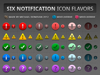 Notification Icons in Six Flavors