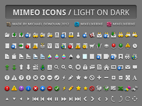 Mimeo Icons (Light on Dark)