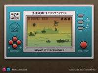 Handheld Video Game UI (Zissou's Life Aquatic)