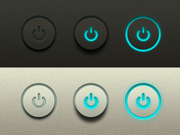 Power Buttons Freebie UI