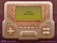 Handheld Video Game UI (Wooden Vintage)