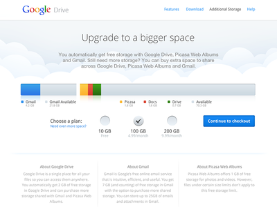 Google Drive - Additional storage