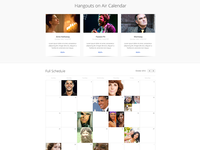 Google+ Hangouts on Air Calendar