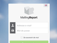 MailingReport Loginbox