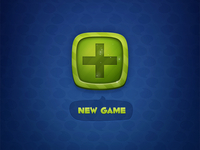 New Game Button - fresh & green