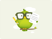 Bird_character_with_pen_and_paper_-_illustration_for_web_design_by_dtailstudio.com_teaser