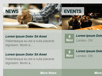 Combined News & Events Widget