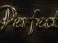 Perfection Gold Text Effect