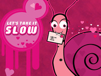 Let's Take It Slow - Valentine Card